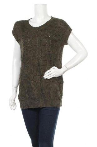 Дамски пуловер A.N.A., Размер S, Цвят Зелен, Акрил, Цена 6,56лв.
