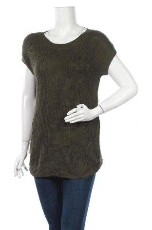 Дамски пуловер A.N.A., Размер S, Цвят Зелен, Акрил, Цена 6,04лв.
