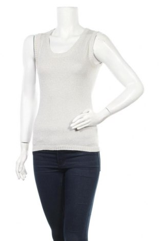Γυναικείο πουλόβερ Apart, Μέγεθος S, Χρώμα Γκρί, 46% βαμβάκι, 38% βισκόζη, 11% πολυεστέρας, 5% μεταλλικά νήματα, Τιμή 6,17€