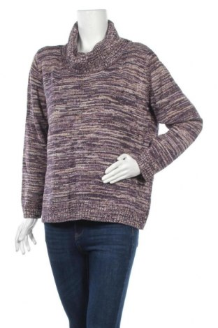 Дамски пуловер Basic Editions, Размер XL, Цвят Многоцветен, 54% памук, 39% акрил, 7% други тъкани, Цена 8,51лв.