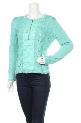 Дамски пуловер Bpc Bonprix Collection, Размер S, Цвят Зелен, 50% полиакрил, 50% памук, Цена 10,92лв.