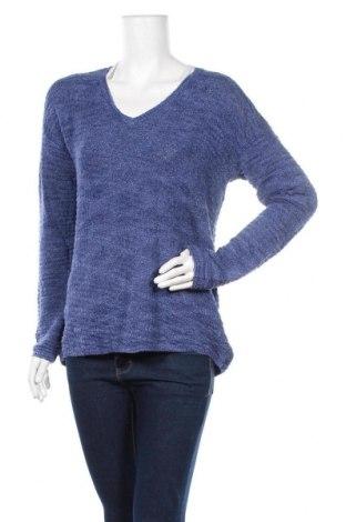 Дамски пуловер Calvin Klein Jeans, Размер M, Цвят Син, 49% памук, 35% вискоза, 16% полиестер, Цена 48,30лв.