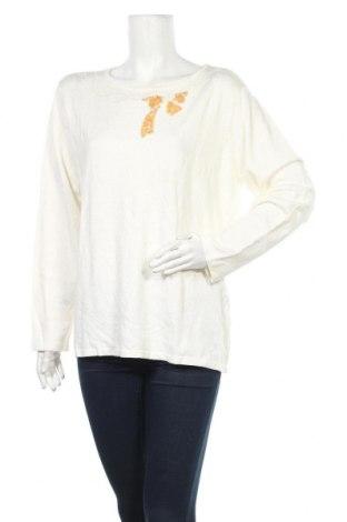 Дамски пуловер Canda, Размер XL, Цвят Бял, 78% вискоза, 22% полиамид, Цена 8,14лв.