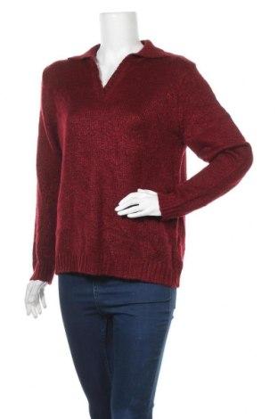 Дамски пуловер Carolyn Taylor, Размер M, Цвят Червен, 93% акрил, 7% полиестер, Цена 7,35лв.