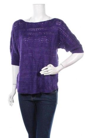 Дамски пуловер Chico's, Размер S, Цвят Лилав, 74% акрил, 21% вълна, 5% мохер, Цена 17,64лв.