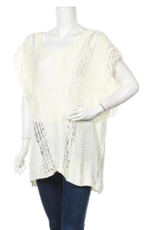 Дамски пуловер City Chic, Размер XL, Цвят Бял, Акрил, Цена 12,86лв.