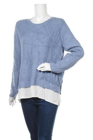 Дамски пуловер Croft & Barrow, Размер L, Цвят Син, 60% памук, 40% акрил, Цена 13,13лв.