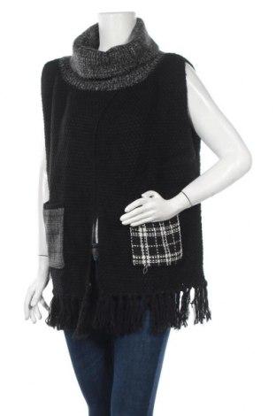 Дамски пуловер Desigual, Размер M, Цвят Черен, 83% акрил, 17% полиамид, Цена 96,75лв.