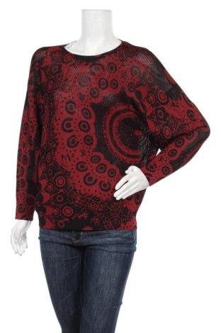 Дамски пуловер Desigual, Размер M, Цвят Червен, 80% вискоза, 20% полиамид, Цена 25,02лв.