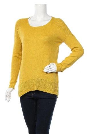 Дамски пуловер Dotti, Размер S, Цвят Жълт, 60% памук, 20% вискоза, 20% полиамид, Цена 13,65лв.