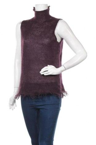 Дамски пуловер Essentiel, Размер L, Цвят Лилав, 55% акрил, 45% мохер, Цена 12,08лв.