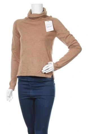 Γυναικείο πουλόβερ Famous, Μέγεθος M, Χρώμα Καφέ, 55% βαμβάκι, 42% πολυαμίδη, 3% ανγκορά, Τιμή 25,92€