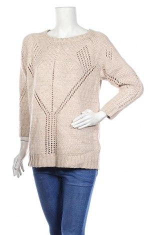 Дамски пуловер Frk, Размер M, Цвят Бежов, 90% акрил, 5% полиестер, 5% метални нишки, Цена 6,83лв.