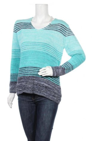 Дамски пуловер G.W., Размер L, Цвят Син, 50% памук, 50% полиестер, Цена 46,20лв.