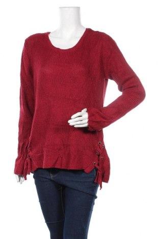 Дамски пуловер George, Размер XXL, Цвят Червен, Акрил, Цена 12,76лв.