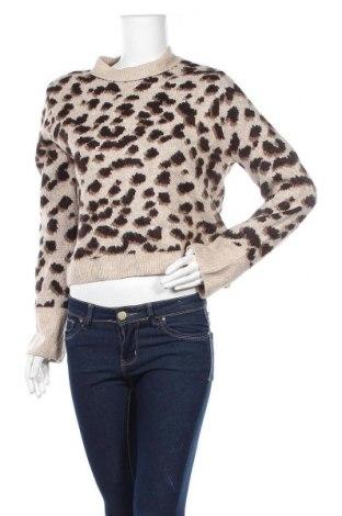 Дамски пуловер H&M, Размер XS, Цвят Кафяв, 52% акрил, 27% полиамид, 12% полиестер, 6% еластан, 3% вълна, Цена 11,76лв.