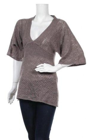 Дамски пуловер H&M, Размер S, Цвят Кафяв, 60% акрил, 20% полиамид, 10% вълна, 10% мохер, Цена 13,44лв.