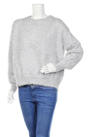 Дамски пуловер H&M, Размер M, Цвят Сив, 76% полиестер, 24% метални нишки, Цена 26,25лв.