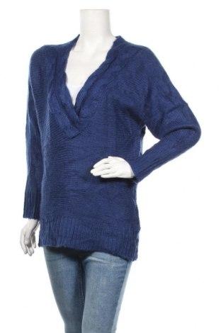 Γυναικείο πουλόβερ H&M, Μέγεθος S, Χρώμα Μπλέ, 80%ακρυλικό, 10% μαλλί, 10% μοχαίρ, Τιμή 5,91€