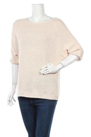 Γυναικείο πουλόβερ H&M, Μέγεθος S, Χρώμα  Μπέζ, 50%ακρυλικό, 50% βαμβάκι, Τιμή 12,96€