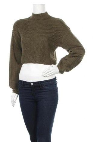 Дамски пуловер H&M Divided, Размер XS, Цвят Зелен, Цена 21,75лв.