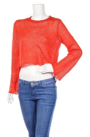 Дамски пуловер H&M Divided, Размер S, Цвят Оранжев, 60% акрил, 35% полиамид, 5% вълна, Цена 7,09лв.