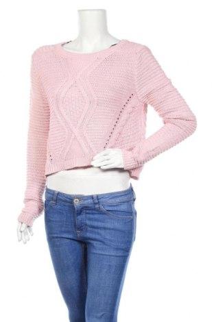 Дамски пуловер H&M Divided, Размер M, Цвят Розов, Памук, Цена 7,25лв.