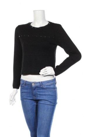 Дамски пуловер H&M Divided, Размер S, Цвят Черен, 45% акрил, 45% вискоза, 10% полиамид, Цена 7,09лв.