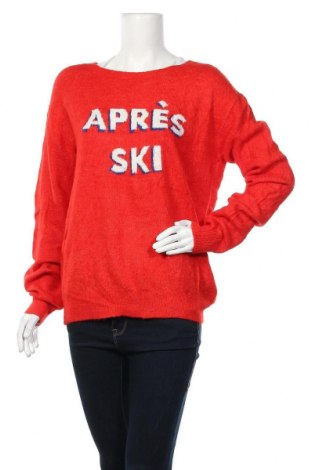 Дамски пуловер H&M L.O.G.G., Размер S, Цвят Червен, 60% акрил, 28% полиамид, 8% вълна, 4% еластан, Цена 7,61лв.