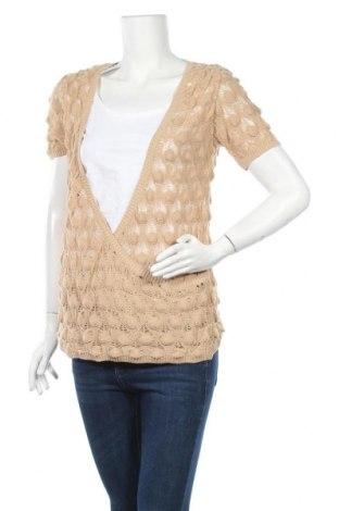 Дамски пуловер Heine, Размер L, Цвят Бежов, Памук, полиакрил, еластан, Цена 7,25лв.