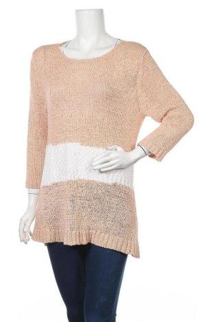 Дамски пуловер Helena Vera, Размер L, Цвят Розов, 61% полиакрил, 32% полиамид, 7% полиестер, Цена 6,04лв.