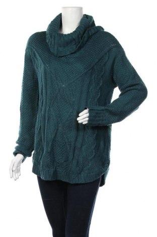 Дамски пуловер Indigo, Размер L, Цвят Зелен, Акрил, Цена 10,92лв.