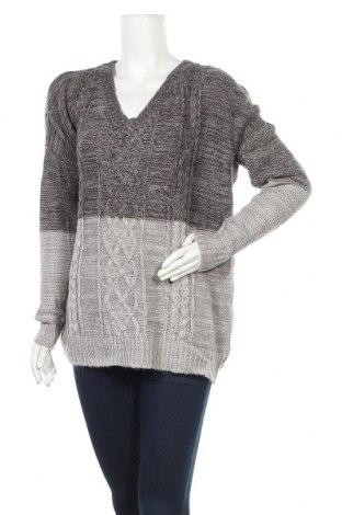 Дамски пуловер Jack, Размер L, Цвят Сив, Акрил, Цена 8,45лв.