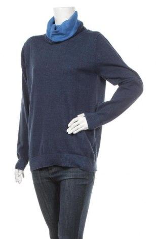 Γυναικείο πουλόβερ Jean Pascale, Μέγεθος L, Χρώμα Μπλέ, Βαμβάκι, Τιμή 14,19€