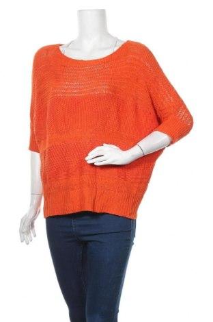 Γυναικείο πουλόβερ Jessica, Μέγεθος M, Χρώμα Πορτοκαλί, 43% βαμβάκι, 38%ακρυλικό, 19% πολυαμίδη, Τιμή 17,90€
