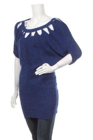 Γυναικείο πουλόβερ Jessica Simpson, Μέγεθος S, Χρώμα Μπλέ, 90%ακρυλικό, 6% πολυεστέρας, 4% μεταλλικά νήματα, Τιμή 8,95€