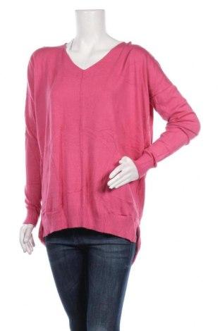 Дамски пуловер Joan Vass, Размер L, Цвят Розов, Цена 22,26лв.