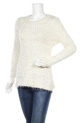 Γυναικείο πουλόβερ KappAhl, Μέγεθος M, Χρώμα Λευκό, 70% πολυεστέρας, 20% πολυαμίδη, 10% μεταλλικά νήματα, Τιμή 6,91€