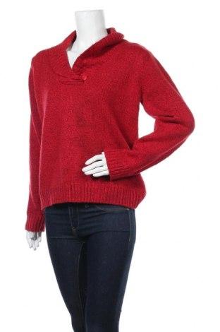 Дамски пуловер Karen Scott, Размер M, Цвят Червен, 93% акрил, 7% полиестер, Цена 10,92лв.