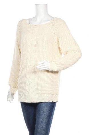 Дамски пуловер Laura Kent, Размер L, Цвят Бежов, 96% акрил, 4% метални нишки, Цена 7,35лв.
