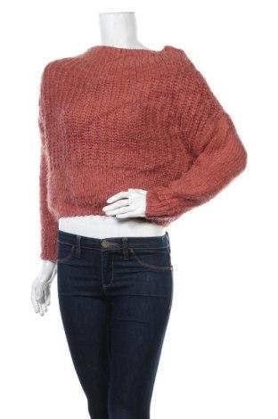 Дамски пуловер Love Tree, Размер M, Цвят Розов, 76% акрил, 24% полиамид, Цена 8,82лв.