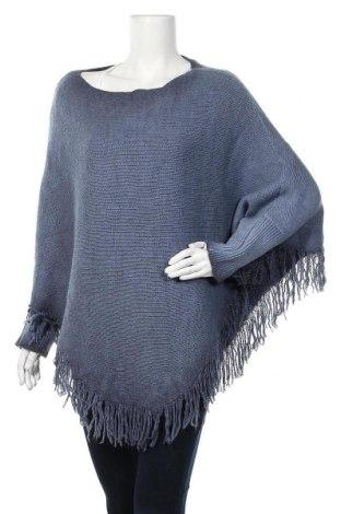 Дамски пуловер Made In Italy, Размер M, Цвят Син, Вълна, акрил, Цена 30,03лв.