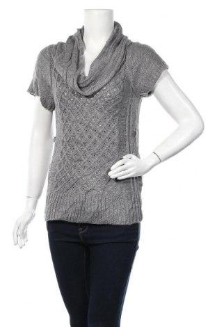 Дамски пуловер No Boundaries, Размер M, Цвят Сив, Акрил, Цена 24,36лв.