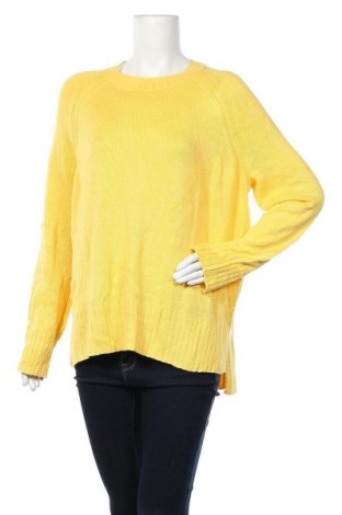 Дамски пуловер Old Navy, Размер L, Цвят Жълт, 55% памук, 25% вискоза, 20% полиамид, Цена 13,65лв.