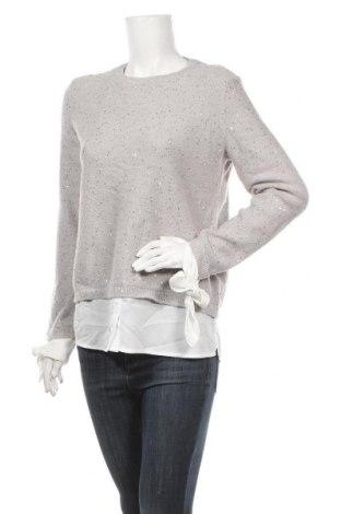 Дамски пуловер Orsay, Размер M, Цвят Сив, 62% акрил, 17% полиамид, 12% полиестер, 7% метални нишки, 2% еластан, Цена 18,90лв.