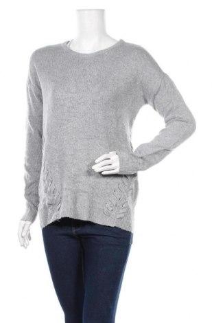 Дамски пуловер Pink Rose, Размер M, Цвят Сив, 90% полиестер, 7% полиамид, 3% еластан, Цена 6,98лв.