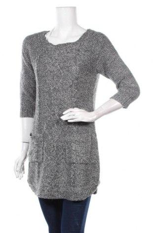 Дамски пуловер Pink Rose, Размер L, Цвят Сив, Акрил, Цена 14,44лв.