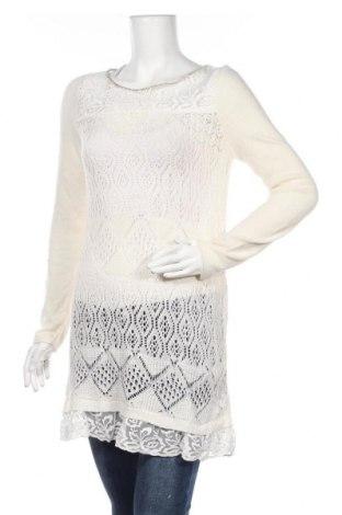 Дамски пуловер Promod, Размер S, Цвят Бял, 50% полиамид, 40% вискоза, 10% ангора, Цена 26,25лв.