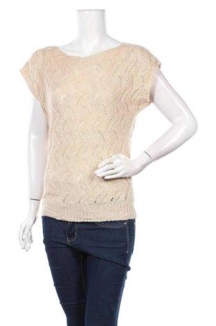 Дамски пуловер Pronto, Размер M, Цвят Бежов, 34% полиестер, 33% акрил, 30% вискоза, 3% ангора, Цена 6,30лв.