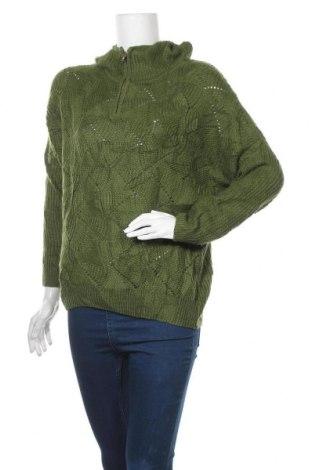 Дамски пуловер Qed London, Размер M, Цвят Зелен, Акрил, Цена 16,17лв.